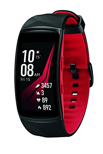 Samsung Gear Fit2 Pro Smart Fitness Band (Large), Diamond Red