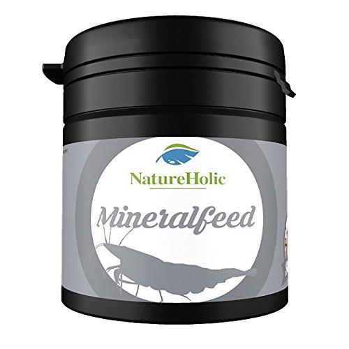NatureHolic Mineralfeed Garnelenfutter - 30g ( MINERALBOOST für Ihre Garnelen - beugt Häutungsproblemen vor! )