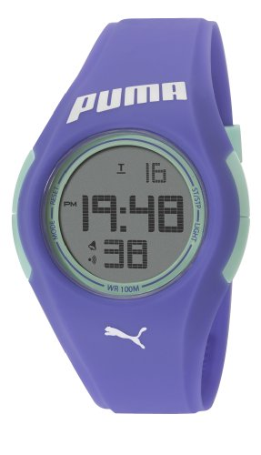 Puma Tonic Unisex Digital Watch with LCD Dial Digital Display and Blue PU Strap PU911191002