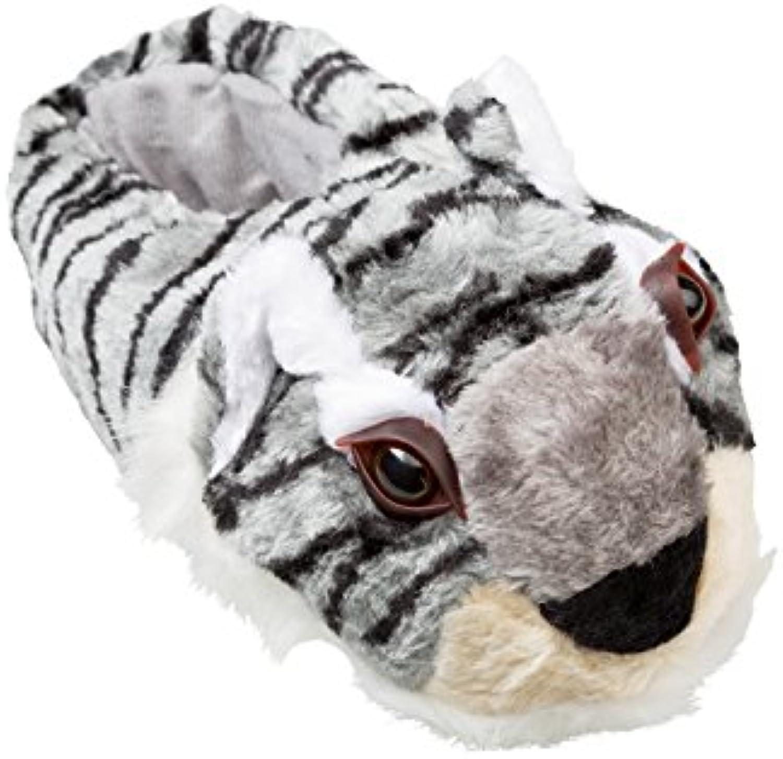 gibra Tierhausschuhe Tiger  Grau  Gr. 36 46