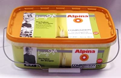 ALPINA Wandfarbe COMPOSITION Move seidenglanz 2,5L. 5,98Euro/L hellgrün , maigrün von Alpina bei TapetenShop
