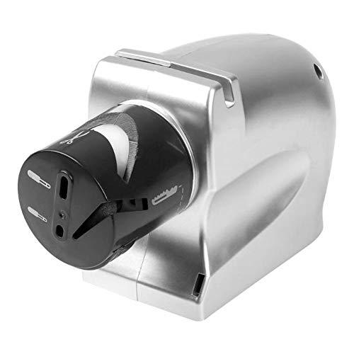 Professioneller elektrischer Messerschärfer Motorisiertes Schleifsteinschärfwerkzeug EU-Stecker Küchenbedarf, Schärfwerkzeug, Küchenwerkzeug (Color : Silver)