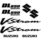 Adhesivo Pegatina ,Sticker texto y logo varias dimensiones ,, Kit Adesivo Suzuki DL 650 Vstrom ,, (SILVER)