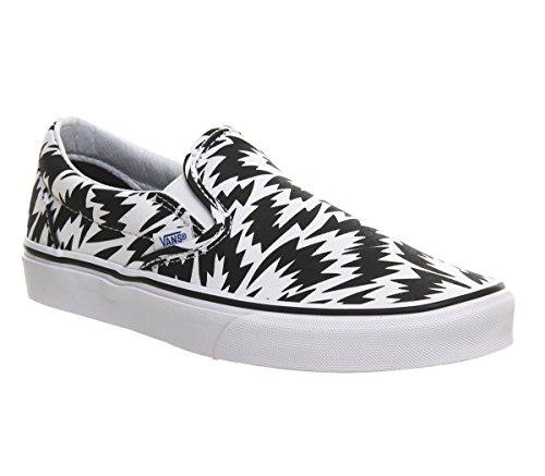 Vans Classic Slip On Shoes Black White Print Eley – 6 UK