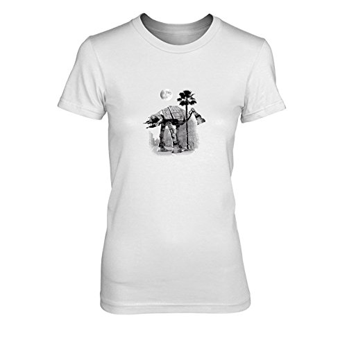 SW: at-at Peeing - Damen T-Shirt, Größe: XL, Farbe: ()