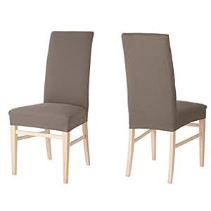 4 x auralum housse de chaise stretch housses chaise de - Casa housse de chaise ...
