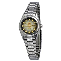 Orient FNQ1X003X Women's 3 Star Stainless Steel Brown Dial Day Date Automatic WatcX