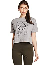 Symbol Amazon Brand Women's Boxy Graphic Print T-Shirt