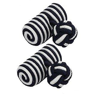 & Corps blanc-noir boutons de manchette de noeud