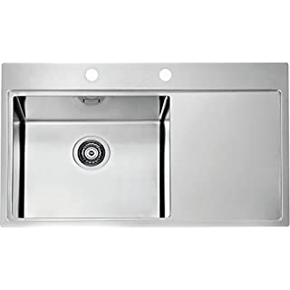 Alveus Stainless Steel Sink 860x525mm Sink Pure 50 Kitchen Inbuilt Sink - Becken Links