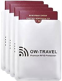 ✅ RFID Schutzhülle Kreditkarten - 100% Schutz - NFC Schutzhüllen, Reisepasshülle Reisezubehör für Kreditkarte, Personalausweis, EC Bankkarten, Visa, Ausweis: Kartenschutz Cardguard Blocker Hülle