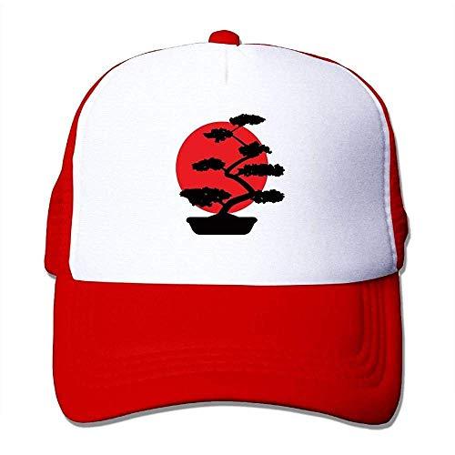 Hoswee Unisex Kappe/Baseballkappe, Men Women Mesh Back Core Baseball Cap Bonsai Tree in Yin Yang Outdoor Baseball Hat -