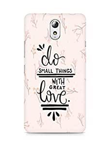 AMEZ do great things with love Back Cover For Lenovo Vibe P1M