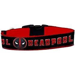 Deadpool Collar Perro Hecho A Mano Talla L HandMade Dog Collar