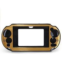 Funda Carcasa Plástico Aluminio Color Dorado para Sony PSVita 2000 Nuevo