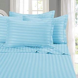 Elegant ComfortR Silky-Soft 1500 Thread Count Egyptian Quality Wrinkle-Free 4-Piece STRIPE Sheet Set, California King, Aqua by Elegant Comfort
