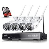 SANNCE 8CH 1080P Wireless CCTV Camera System 2TB Hard Drive with 4x 2.0MP