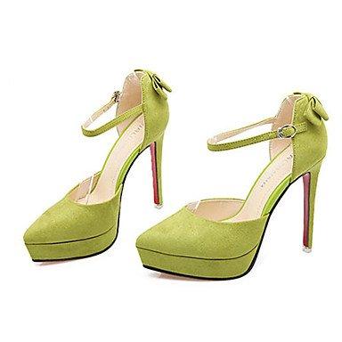 Moda Donna Sandali Sexy donna caduta tacchi Comfort Felpa casual Stiletto Heel fibbia nero / giallo / il verde / rosa / grigio altri Yellow