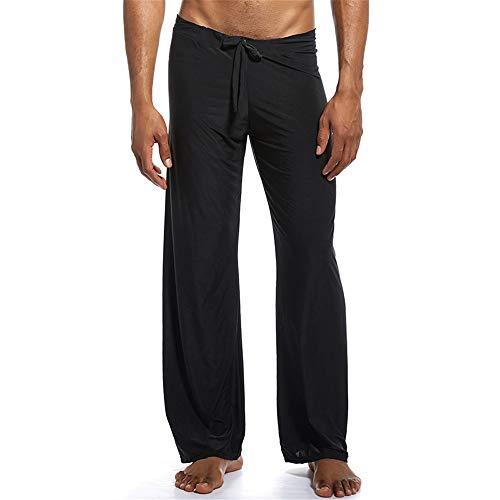 Preisvergleich Produktbild Swallowuk Herren Schlafanzughose Hose Lang Unterwäsche Casual Hosen Nachtwäsche Pyjamahose Verstellbarem Elastik Bund Schlafen Yoga Sport Pants (L