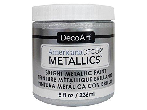 Deco Art Americana Décor Metallic Jar der Farbe, Acryl, Sterling Silber, 7x 7x 8cm