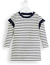 Marque Amazon - RED WAGON Stripped Sweater - Robe - Fille