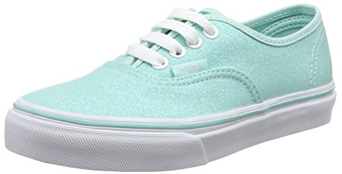 Vans Authentic Glitter (Vans Mädchen UY Authentic Sneakers, Blau (Glitter and Iridescent Blue/True White), 35 EU)