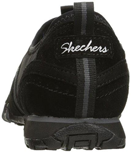 Pelle Scamosciata Nera Vainqueur In Skechers Sneaker Bikers Lycra 0AXY1xn16