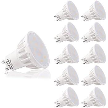 LOHAS® No-Regulable 6Watt GU10 LED Bombillas, Equivalente a 50Watt Lámpara Incandescente, Blanco Calído 3000K, 500lm, 120 ° ángulo de haz, Ultra Brillante ...