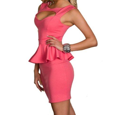 "Waooh - Fashion - Kurzes Kleid Fliegen "" Eloisa "" Rosa"