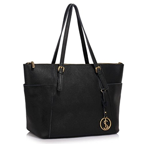 LeahWard-Real-Leather-Womens-Large-Size-Handbags-Genuine-Leather-Tote-Shoulder-Bag-CW1003