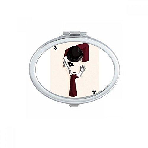 DIYthinker La Culture Traditionnelle Chinoise Place Mahjong Jeu Miroir de Maquillage Compact Portable Mignon Miroirs de Poche à la Main Cadeau Multicolor
