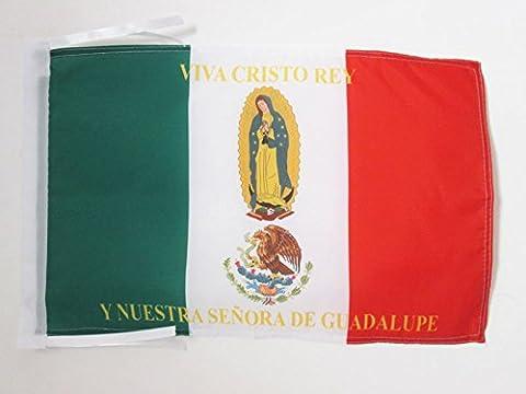 FLAGGE MEXIKO VIVA CRISTO REY 45x30cm mit kordel - MEXIKANISCHE