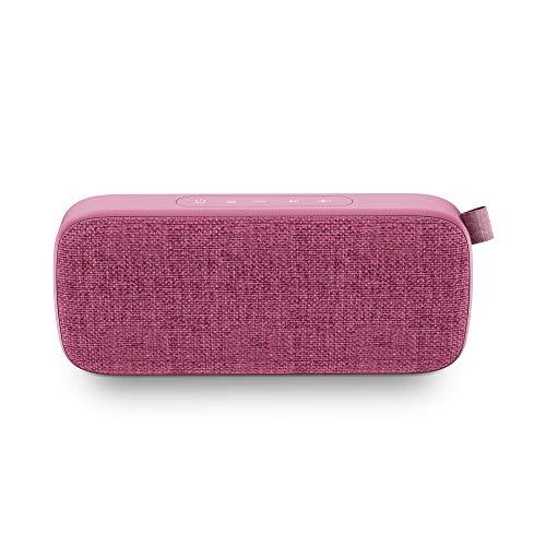 Energy Fabric Box 3+ Trend Grape - Altavoz portátil (TWS, Bluetooth v5.0, 6W, USB&microSD MP3, FM Radio, Audio-In), Color Morado