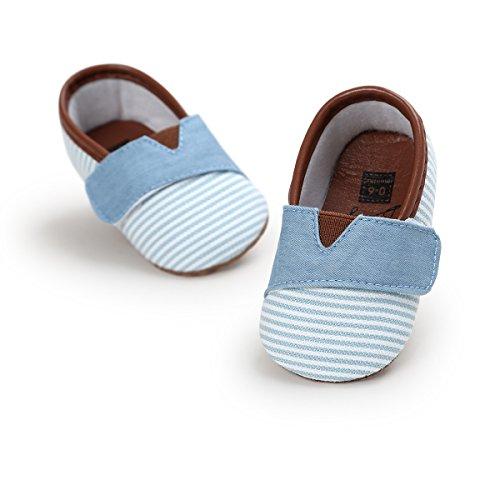 Morbuy Leinwand Baby Schuhe Mädchen und Jungen Kleinkind Streifen Babyschuhe Neugeborene...