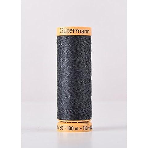 Gutermann cotone naturale 100m Quilting macchina da cucire per cucire blu–5902 - Naturale Di Cotone Per Cucire