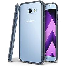 Funda Galaxy A3 2017, Ringke [FUSION] Protector de TPU con Parte Posterior Transparente de PC Carcasa Protectora Biselada para Samsung Galaxy A3 2017 - Negro humo Smoke Black