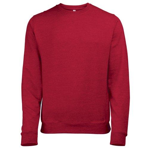 Awdis - Sweatshirt - Homme Rouge chiné
