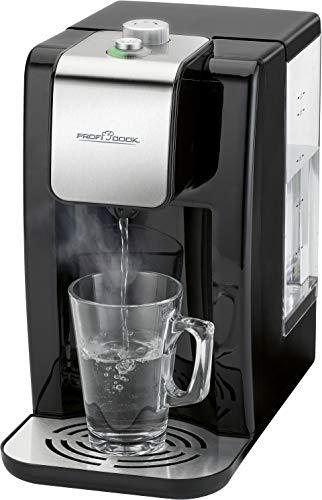 ProfiCook PC-HWS 1168 Highspeed-Wasserspender, 100°C in ca. 3 Sekunden, variable Temperatureinstellung von 45°C bis 100°C, bis zu 2,2 Liter Fassungsvermögen, Edelstahleinlage
