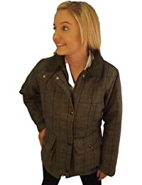 Campbell Cooper New Ladies Original Tweed Fitted Outerwear Jacket Blue
