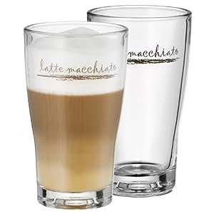 WMF 0954142040 Latte Macchiato Glas Set 2 Stück Barista