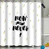 Randell Bathroom Shower Curtain Life Is A Game Play It Waterproof Fabric Shower Curtain 60(W) X 72(L) Inches For Men Women Kids