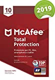 McAfee Total Protection 2019 | 10 Dispositivi | Abbonamento di 1 anno | PC/Mac/Smartphone/Tablet