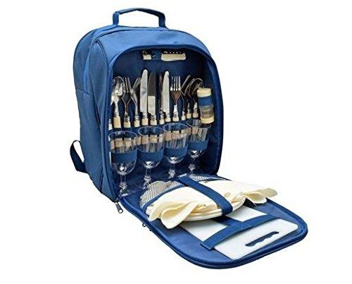 Royal Picknick Kühler Rucksack 4Person Picknick Teller Besteck Gläser Set Cool Tasche