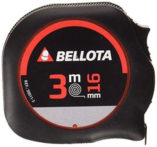Bellota 50011-3 - Metro cinta métrica, flexómetro para medir distancias de 3 metros