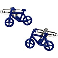 Cdet 2X Gemelos Camisa de la Manga Francesa de la uña Botones de la joyería Cuff Padrinos Boda Regalo,Bicicleta Verde Azul