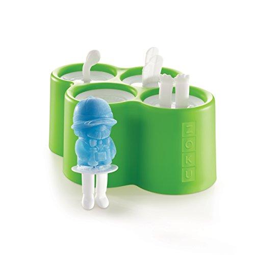 Zoku ZK1344er-Set Eisförmchen aus Kunststoff grün/blau/koralle/violett
