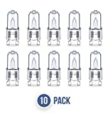 AcornSolution 10 x G9 Halogen Pin base Light Bulbs Clear Capsule (40W)