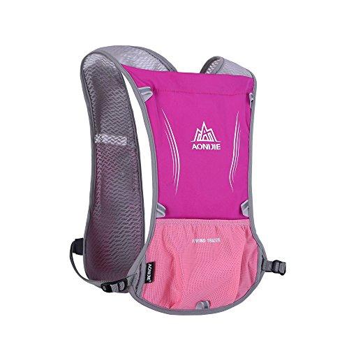 Lixada 5L Sport Wasserflasche Rucksack Tasche mit Reflective Weste, Running Radfahren Kleidung rose