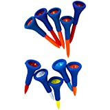 MagiDeal 10 Pieces Durable Soft Rubber Cushion Top Golf Tees Random Color 4.2 Cm + 5.4 Cm