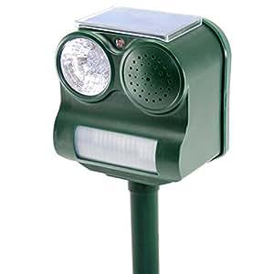 Chasse-Oiseaux Solaire - Haut-parleur 3 sons + Stroboscope 5 LED EPISTAR
